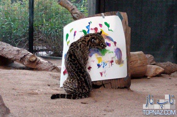 پلنگ نقاش