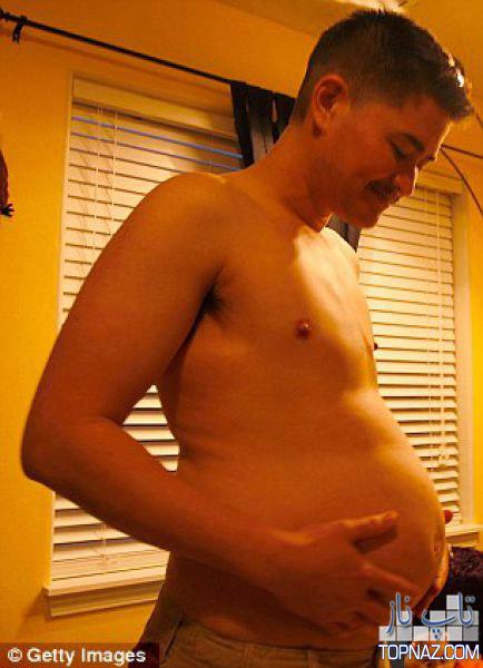 تصاویری جالب از مرد حامله چینی