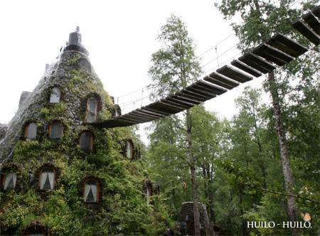 هتل شگفت انگیز آبشاری در شیلی