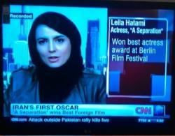 مصاحبه لیلا حاتمی با سی ان ان CNN + دانلود مصاحبه