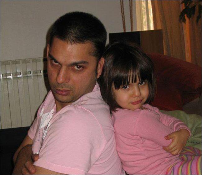 عکس پیمان معادی و دخترش