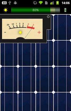 شارژ باتری اندروید با پنل خورشیدی در Solar Charger v1.1