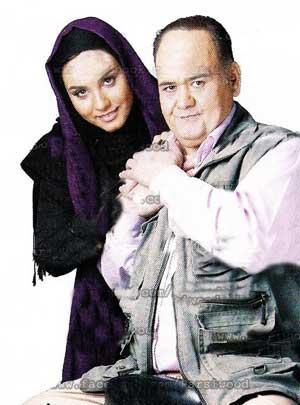 اکبر عبدی در کنار دختر خود المیرا