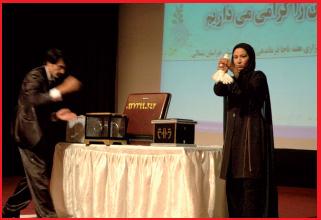 دختر شعبده باز ایرانی + عکس