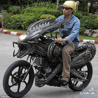 موتورها و دوچرخه های عجیب و غریب