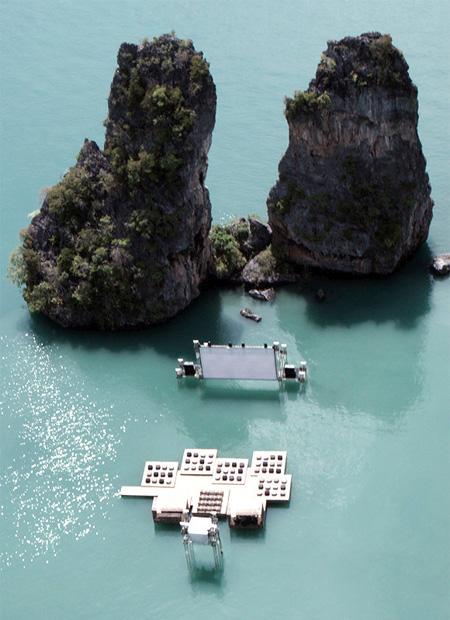 تصاویری از سینمای شناور در تایلند