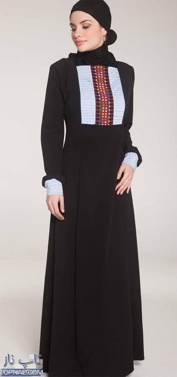مدل لباسهای بلند مجلسی پوشیده با روسری