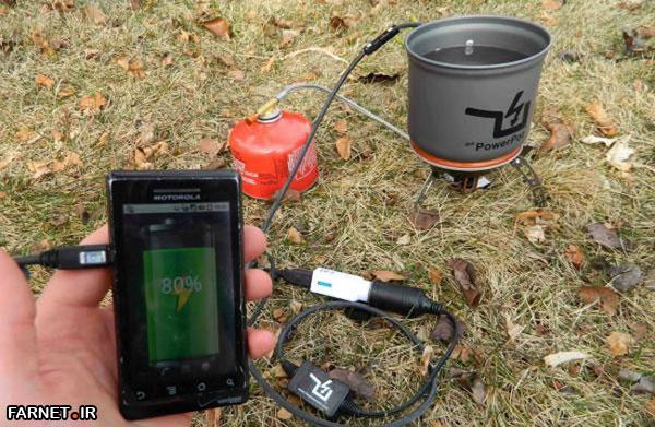 شارژ دستگاههای دیجیتال شما با یک قابلمه آب!