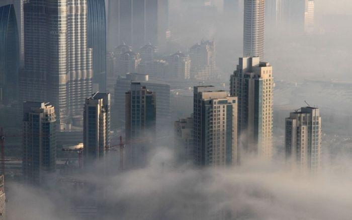 شهر دبی در مه (9 عکس)