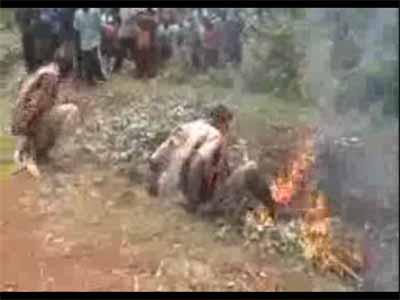 کلیپ زنده سوزاندن افراد در آتش +18